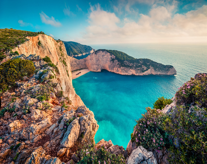 Trip at historic Shipwreck Beach at Zakynthos